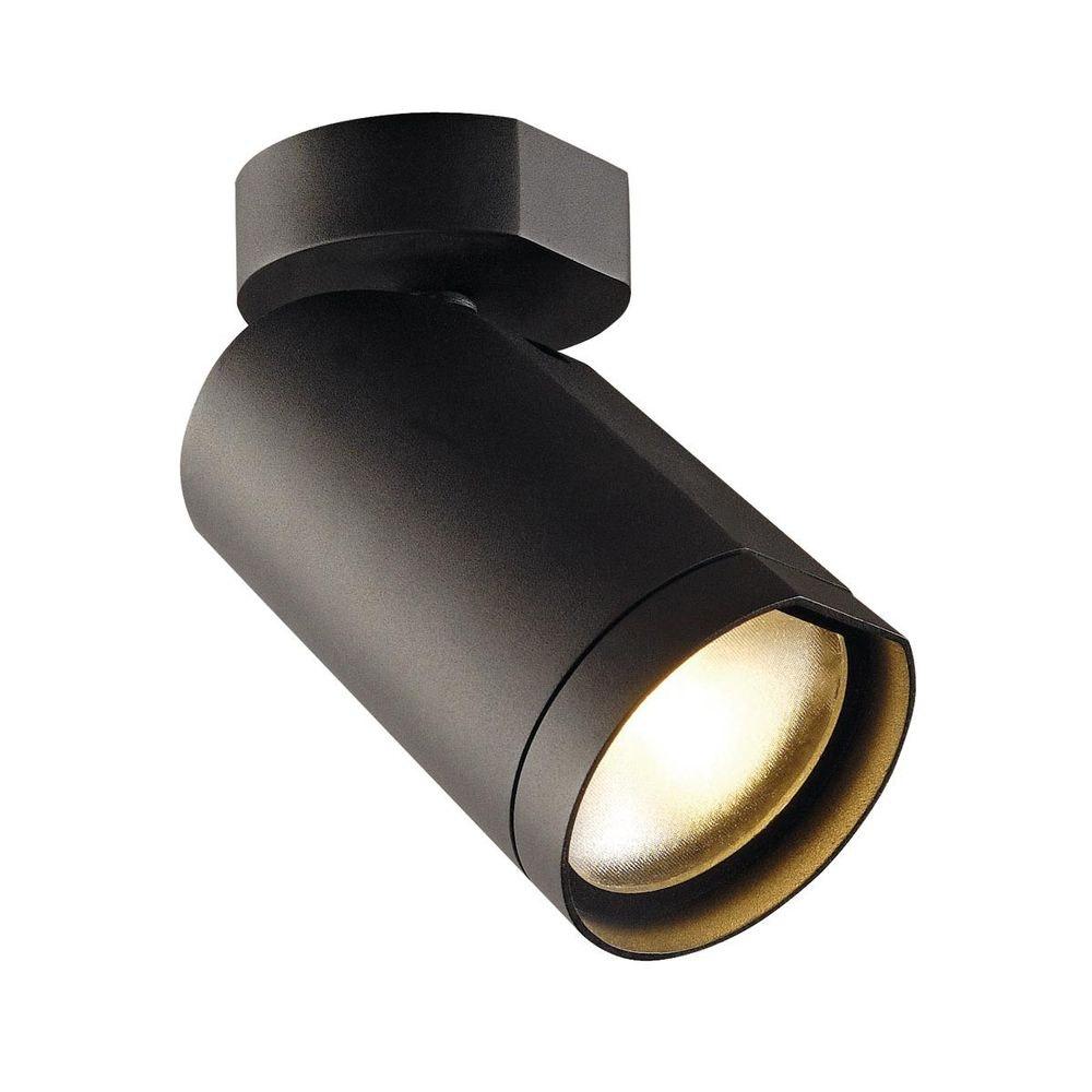 SLV BILAS Spot Single 25° LED rund matt Schwarz 15W 2700K mit Rosette 1