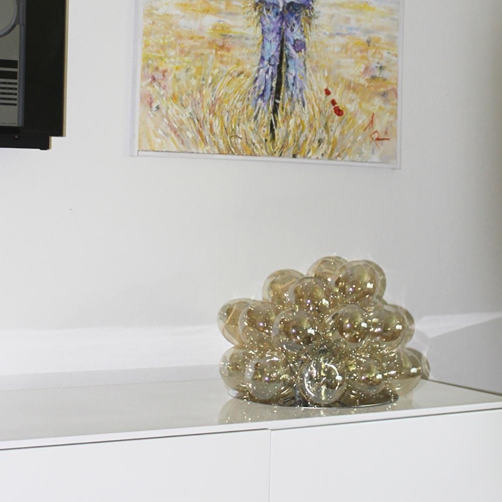 By Rydens Glas Tischlampe Gross Ø 38cm Amber