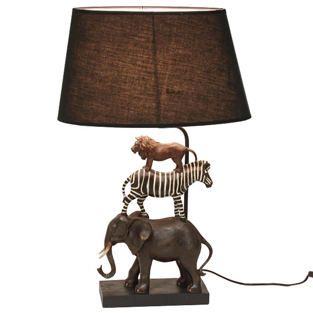 Dekorative Tischleuchte Safari Schwarz 2