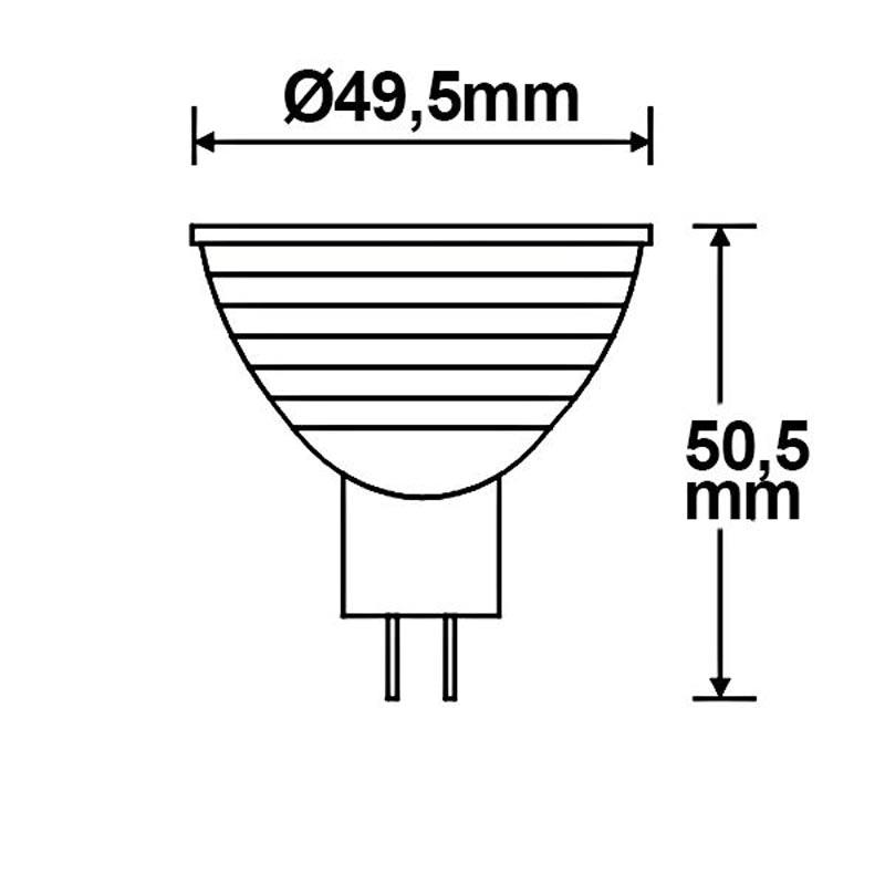 MR16 LED Leuchtmittel 5W warmweiß dimmbar 3
