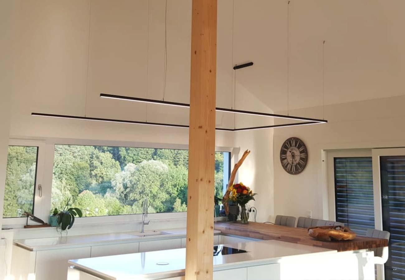 LED Rechteckprofil Kücheninsel