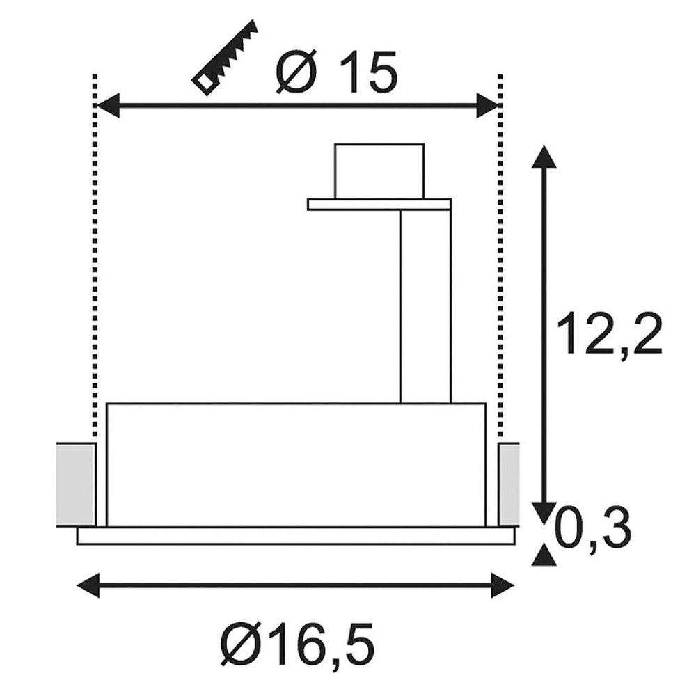 SLV New Tria I ES111 Round Schwarz max. 75W inkl. Blattfedern 3