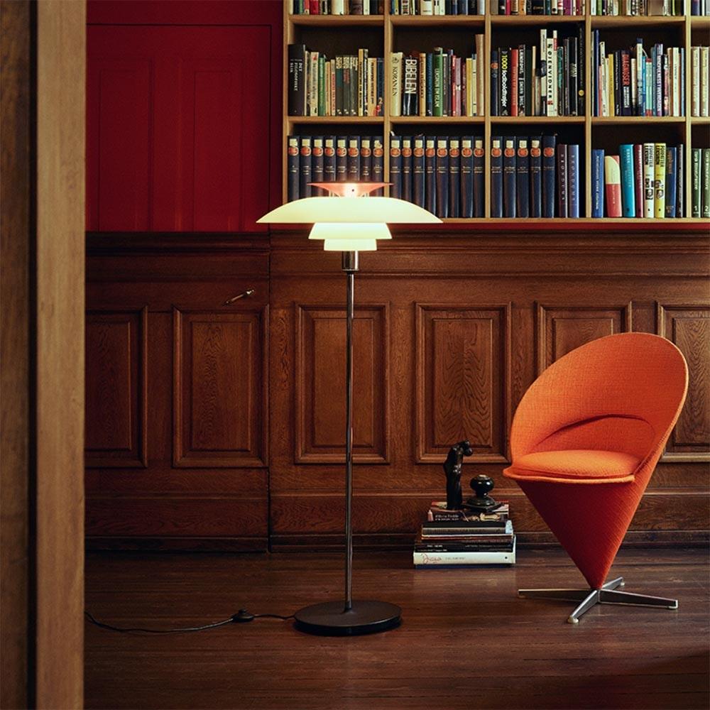 Louis Poulsen Stehlampe PH80 Ø 55cm Opalweiß 1