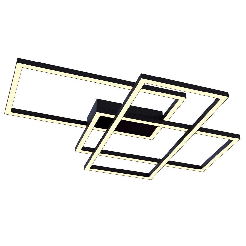 LED-Deckenleuchte Lines mit 3 Rechtecken 78cm 5000lm Schwarz 1