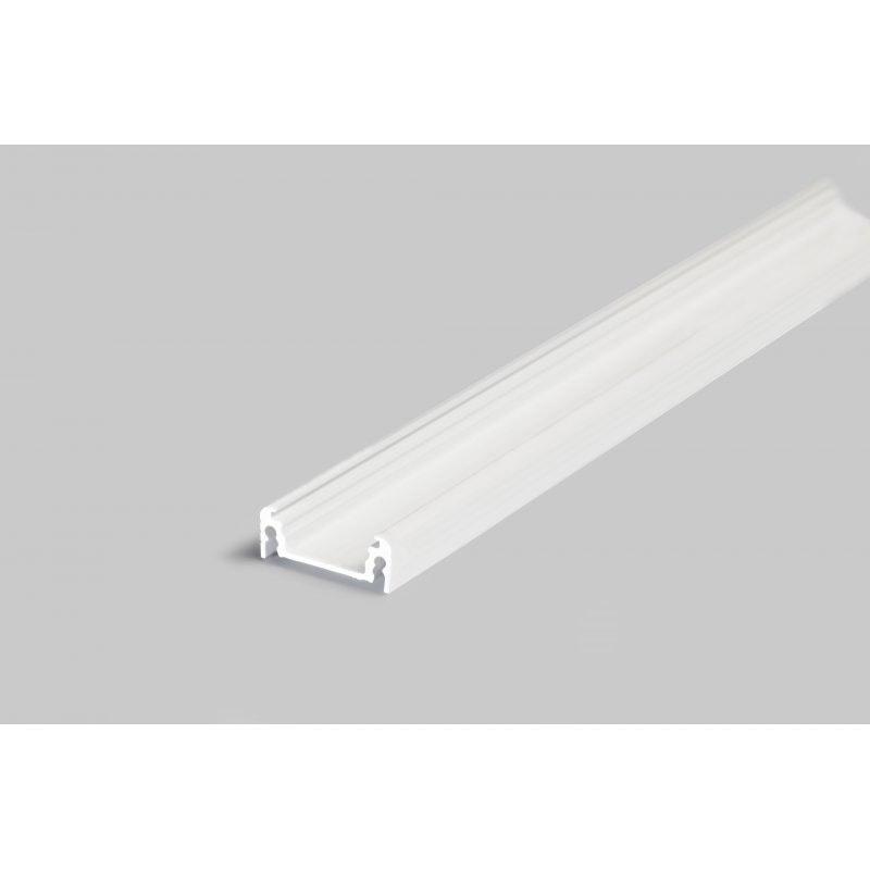 Aufbauprofil flach 200cm Weiß ohne Abdeckung für LED-Strips