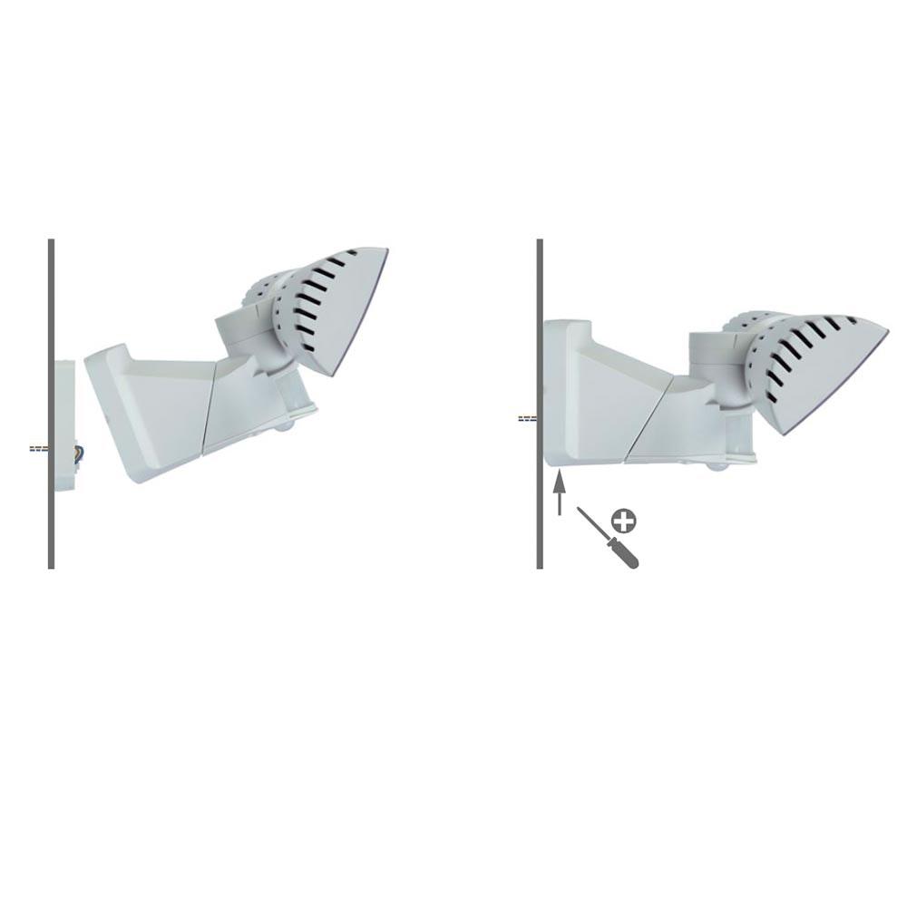 Lutec LED Aussenwandleuchte Peri IP54 1710lm Weiß 2