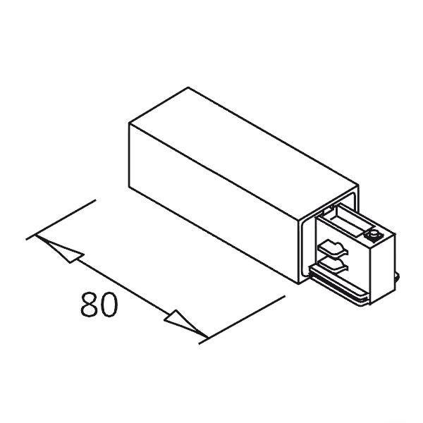 3-Phasen Einbau Seiten-Einspeisung Schutzleiter rechts Weiß 2