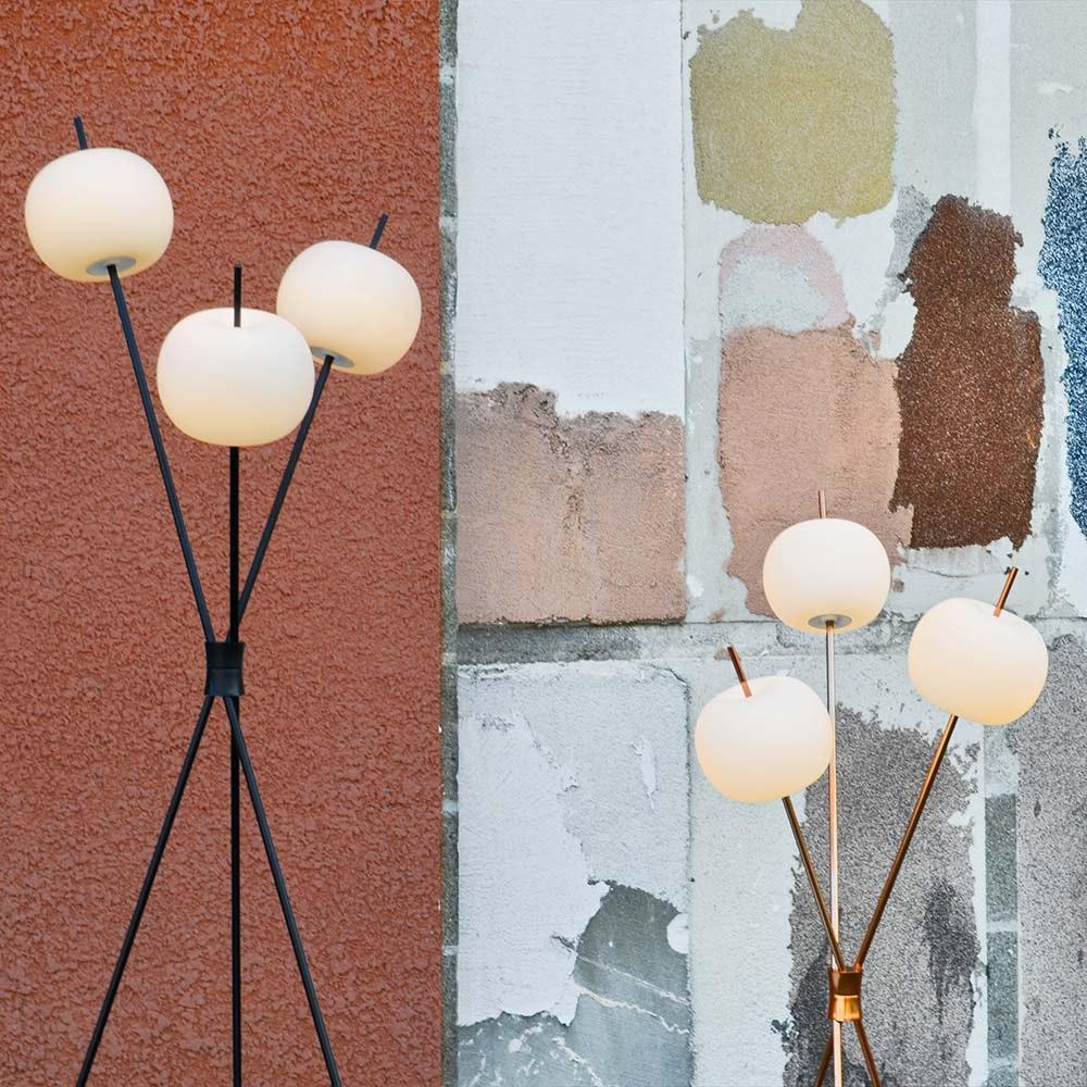 Kundalini LED Stehleuchte Kushi Dreibein 140cm Dimmbar thumbnail 3