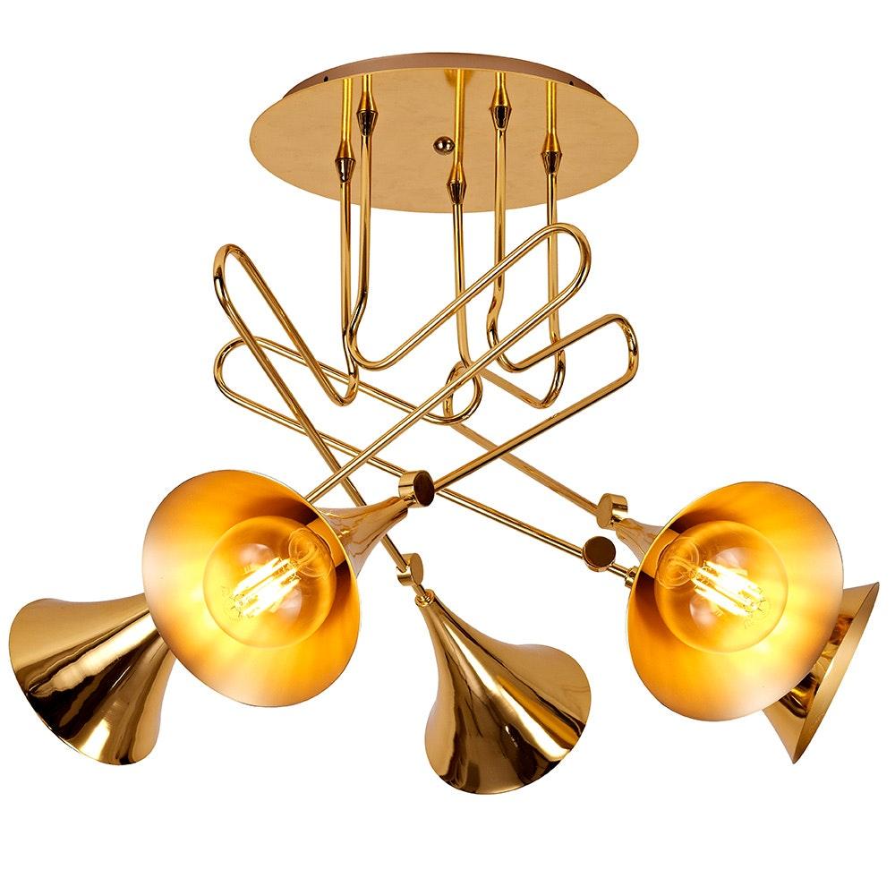 Mantra Jazz Gold Deckenlampe 5-flammig