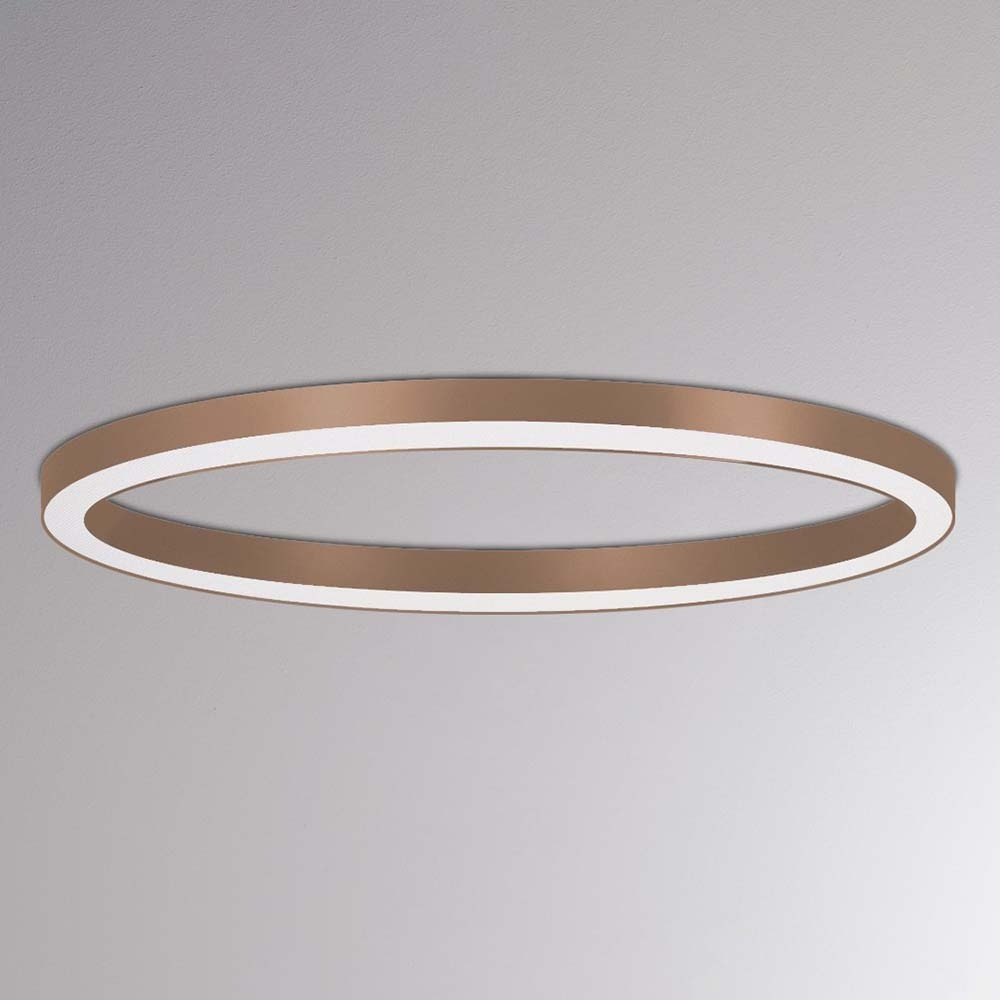 Molto Luce Rinq LED Ring-Deckenlampe Ø 900cm Schwarz DALI dimmbar