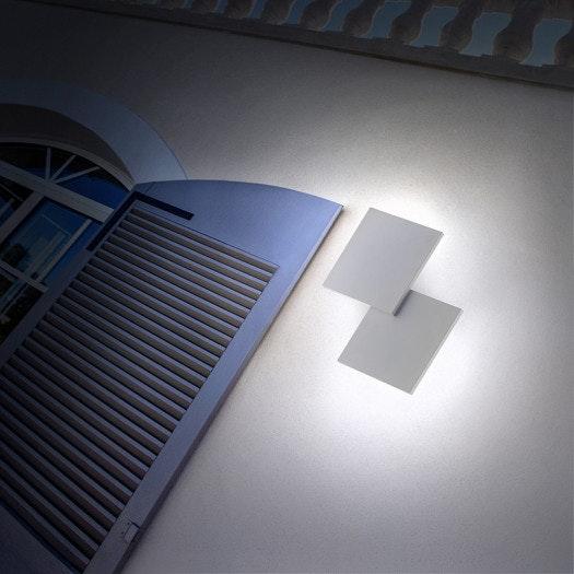 Lodes Puzzle Outdoor Double Square LED Wandleuchte
