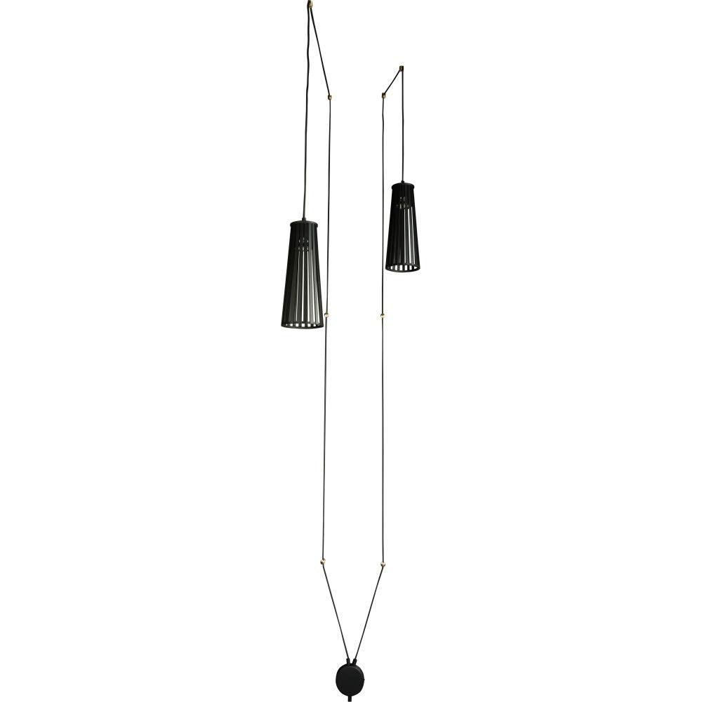 Licht-Trend Hängelampe Dover 2-flg. mit 5m Kabel Schwarz 2