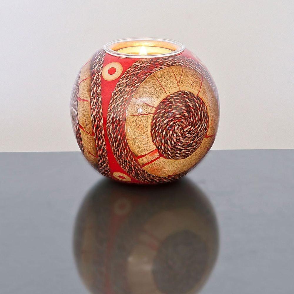 Kugelleuchter Gioiello Kunstharz-Naturmaterialien Rot-Sand 1