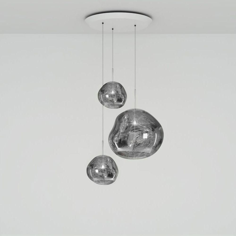 Tom Dixon Melt LED Trio Pendelleuchte 3er Mobile Ø 81cm 4