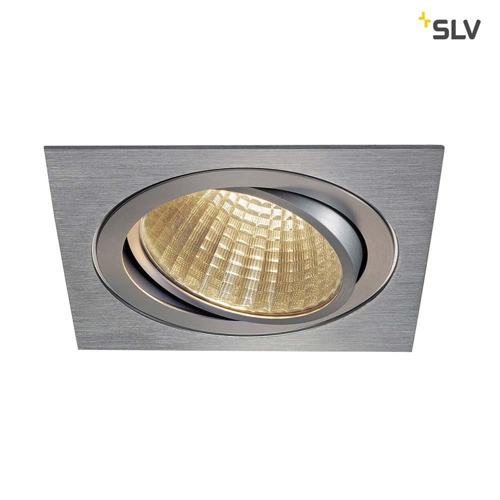 SLV New Tria LED DL Square Set Alu-Gebürstet 25W 30°, 3000K, inkl. Treiber, Clipf. 1