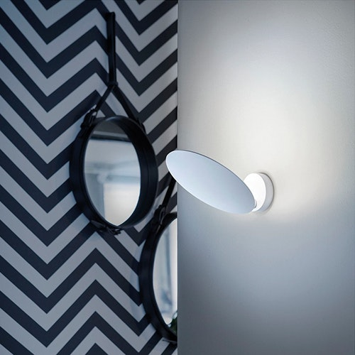 Studio Italia Design Puzzle Round Single LED Wand- & Deckenlampe 1