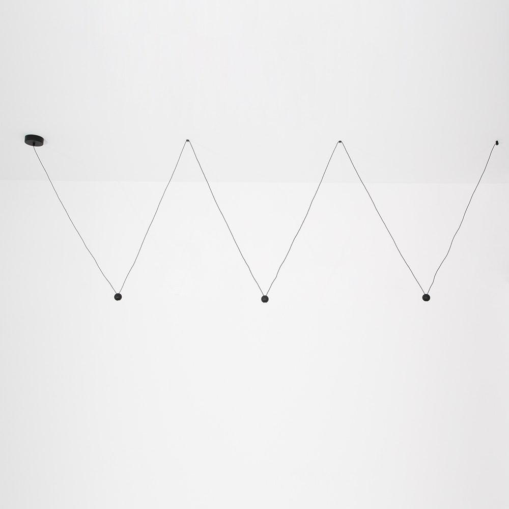Nocci LED-Hängelampe 3-flammig Schwarz 3