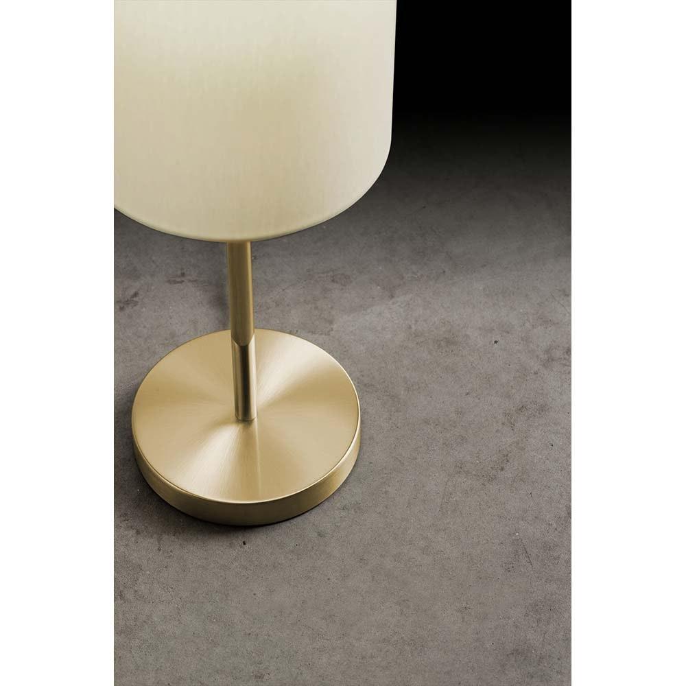 Holtkötter Tischlampe Messing poliert & matt (ohne Schirm) mit Ein-/Ausschalter 2