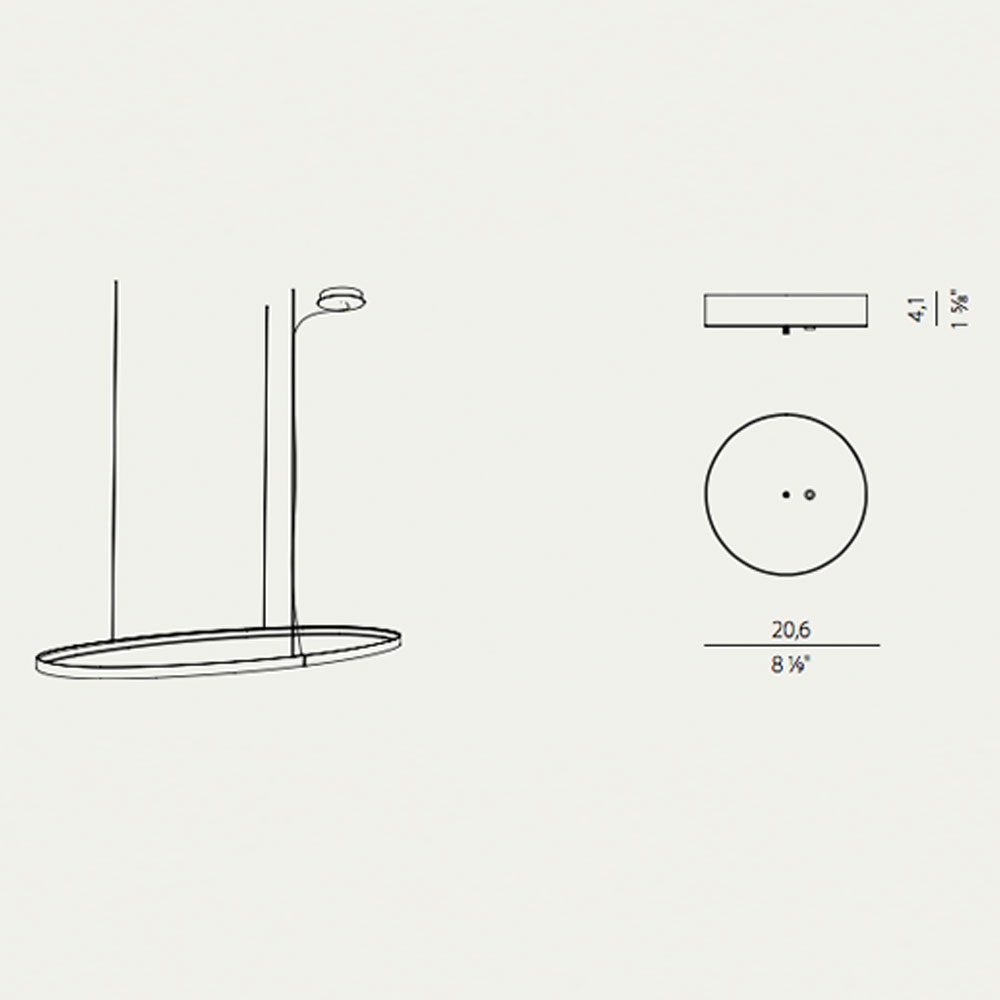 Panzeri Zero Baldachin für Round / Ellipse / Square 6