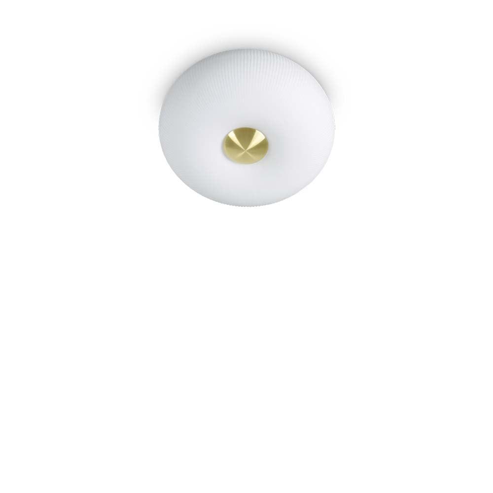 Ideal Lux Deckenleuchte Arizona 2-flg. Weiß, Messing-Satiniert 1