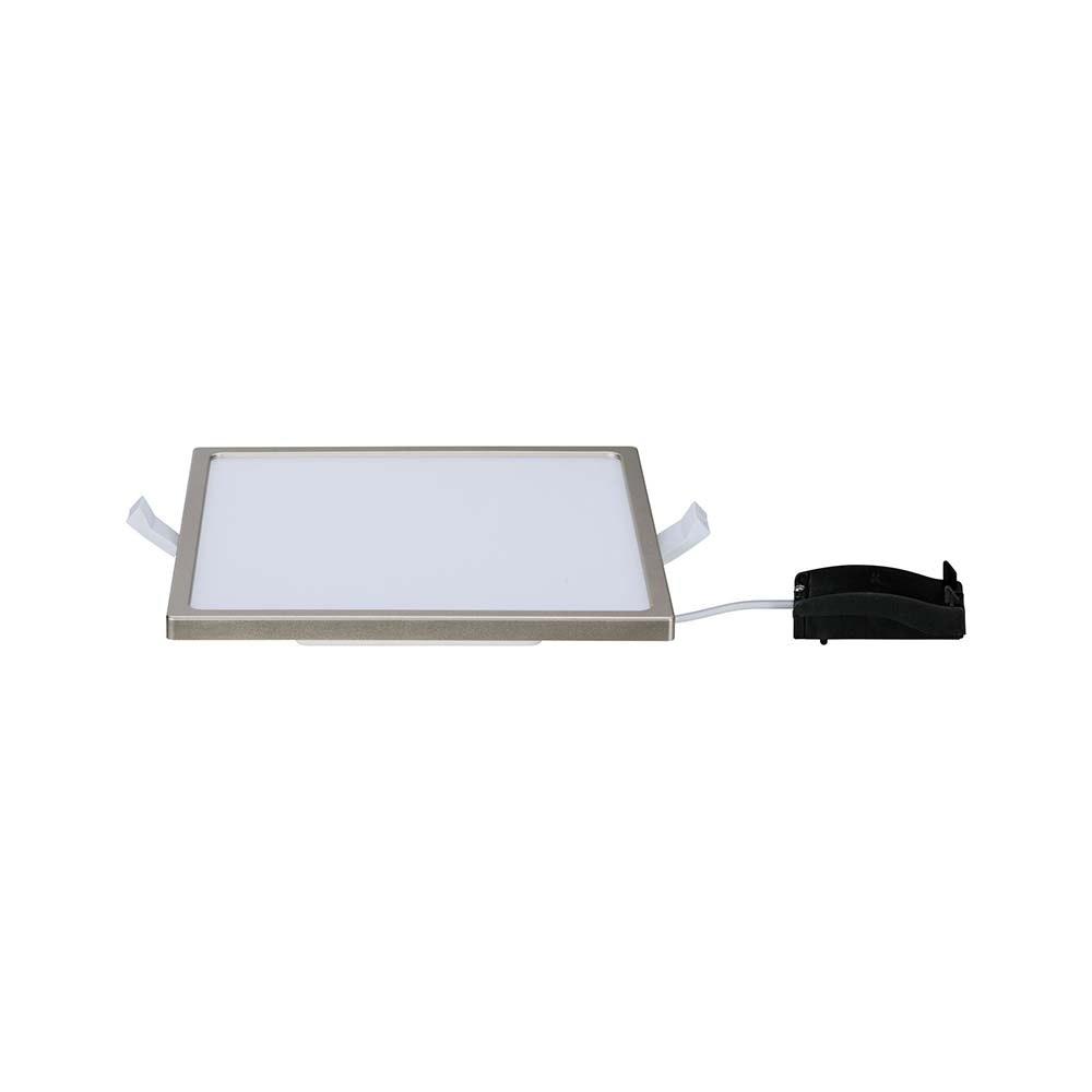 EBL Set Panel Areo eckig IP23 LED 1x12W 3000K Nickel-Matt 3