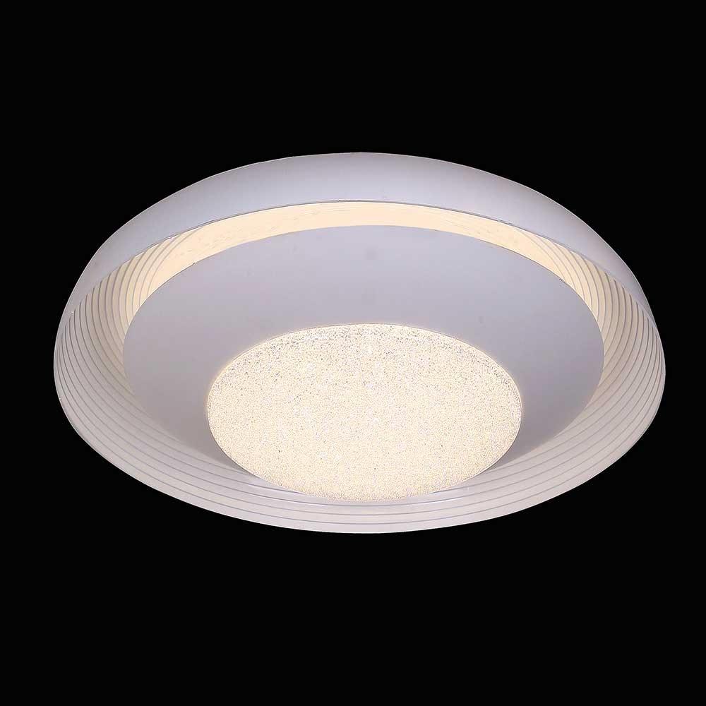 Mantra Ari LED-Deckenleuchte Weiß funkelnd 2