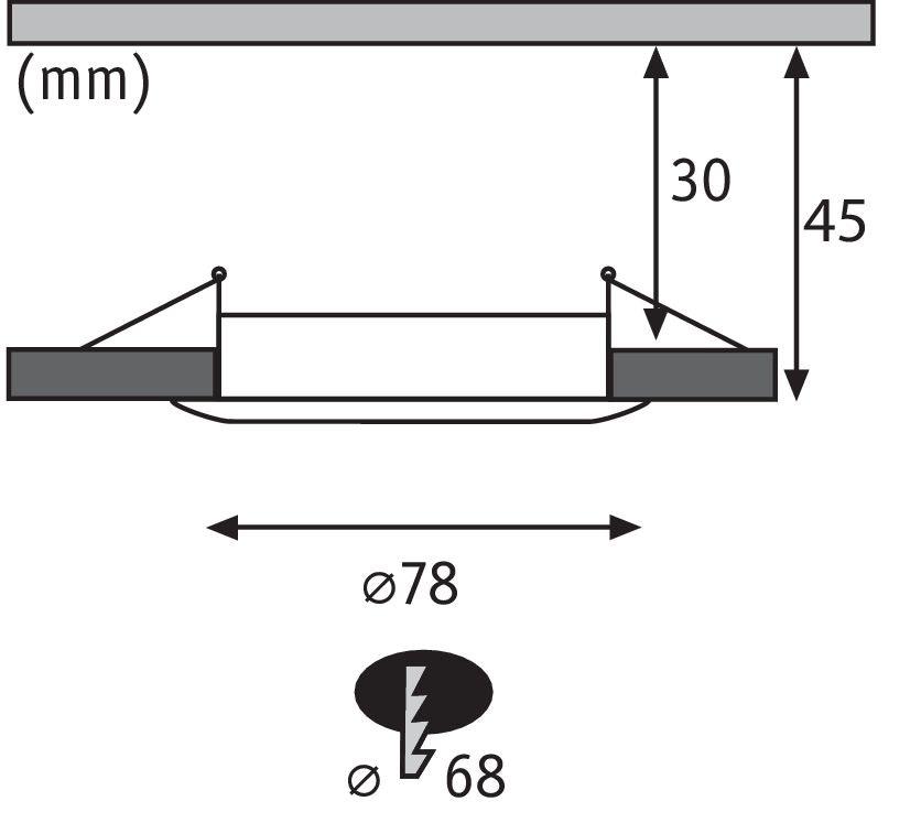 3er-Set LED Einbauleuchte Nova rund 3-Stufen Dimmbar Weiß 3