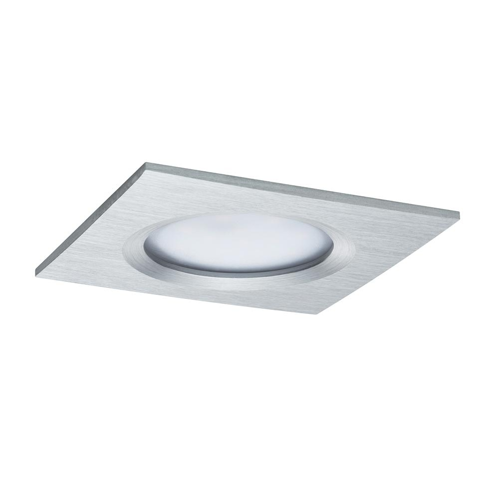 Einbauleuchte LED Coin Slim IP44 eckig 6,8W Alu dimmbar 2