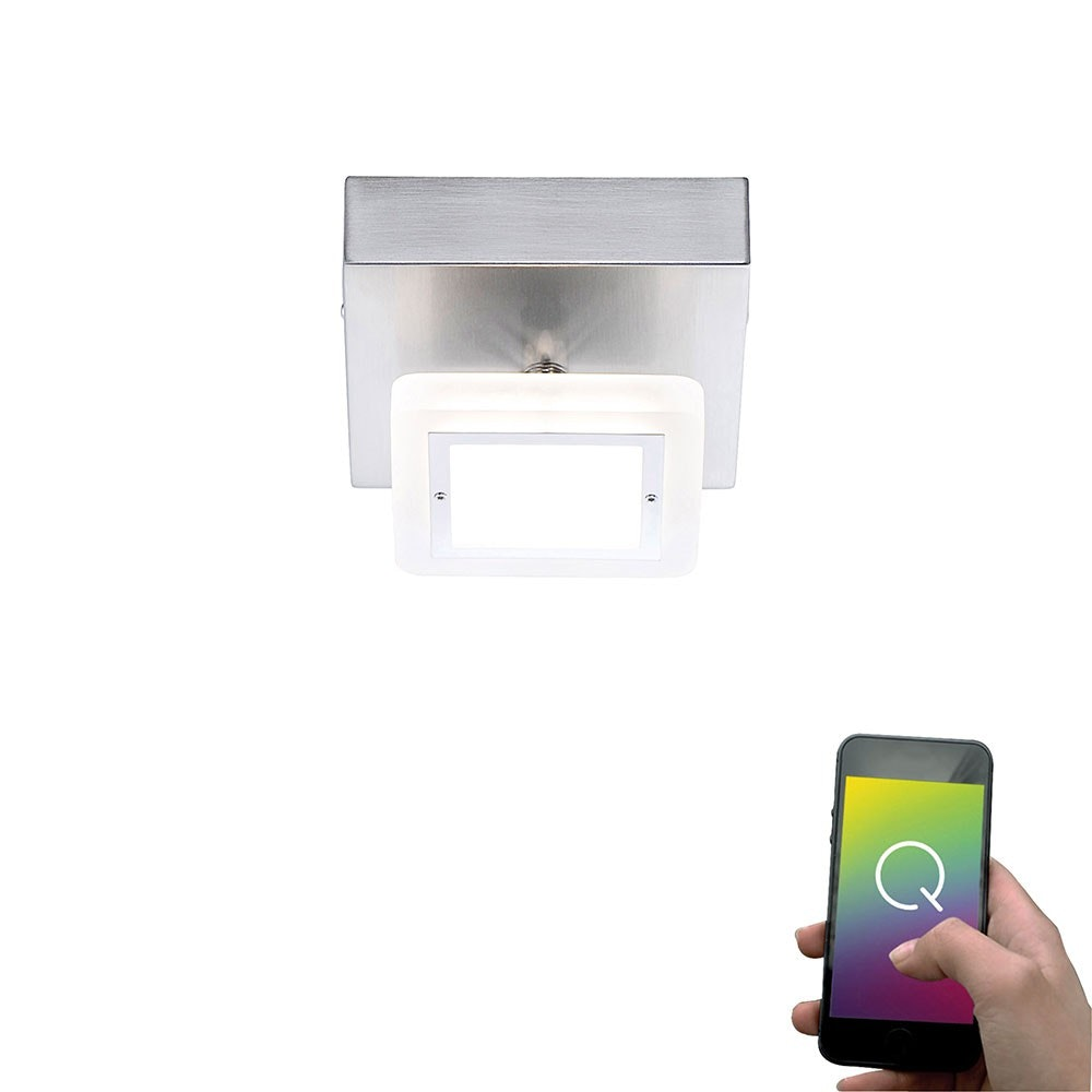LED Deckenlampe Q-Vidal Kugelgelenk 4, 80W RGBW 1