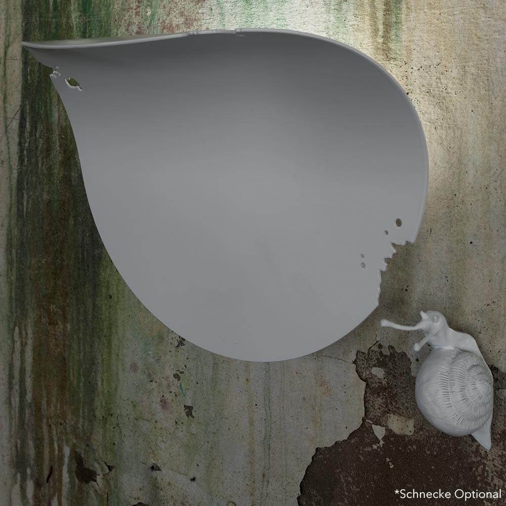 Karman Va-Lentina Wandleuchte Weiß (ohne Schnecke) 1