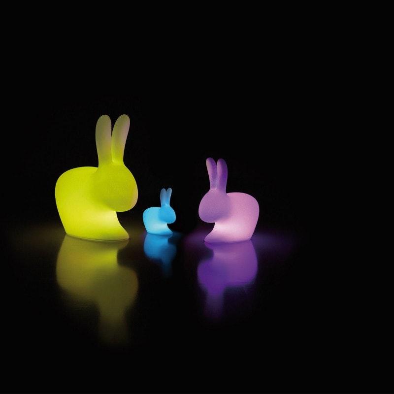 Qeeboo Rabbit LED Dekolampe mit farbigem Licht 6