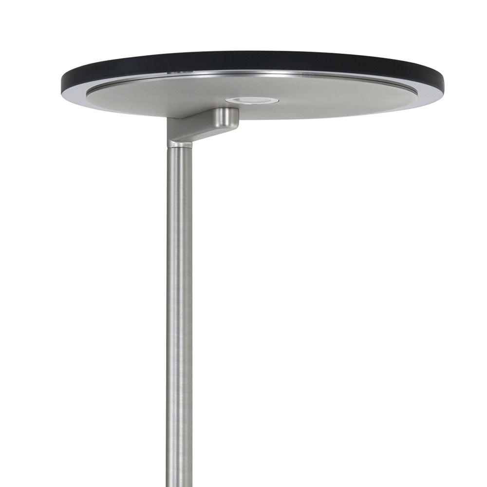 Steinhauer LED-Deckenfluter Turound LED mit Lesearm Tastdimmer 2700K 17