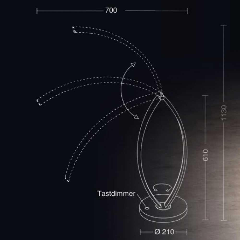 Holtkötter LED-Tischleuchte Epsilon T mit Tastdimmer thumbnail 5