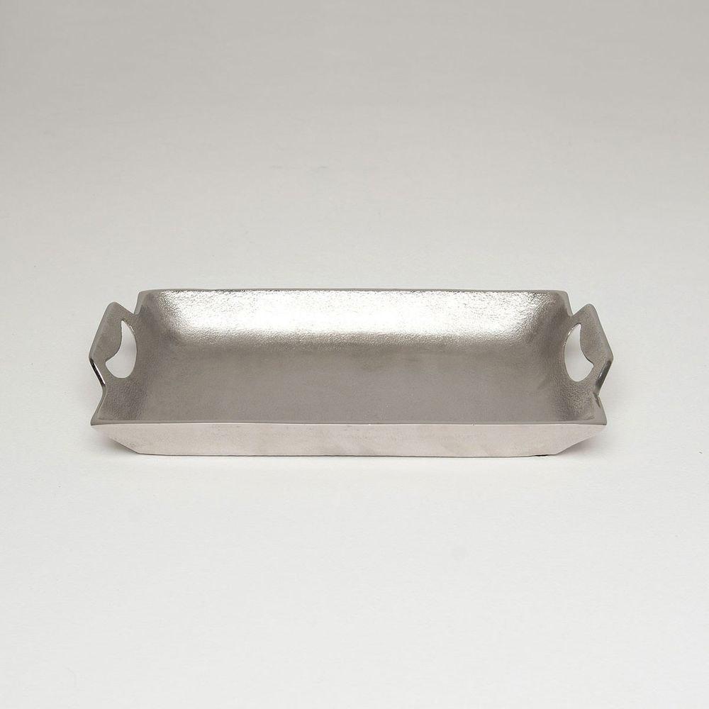 Tablett Domestica Klein Aluminium Silber 1
