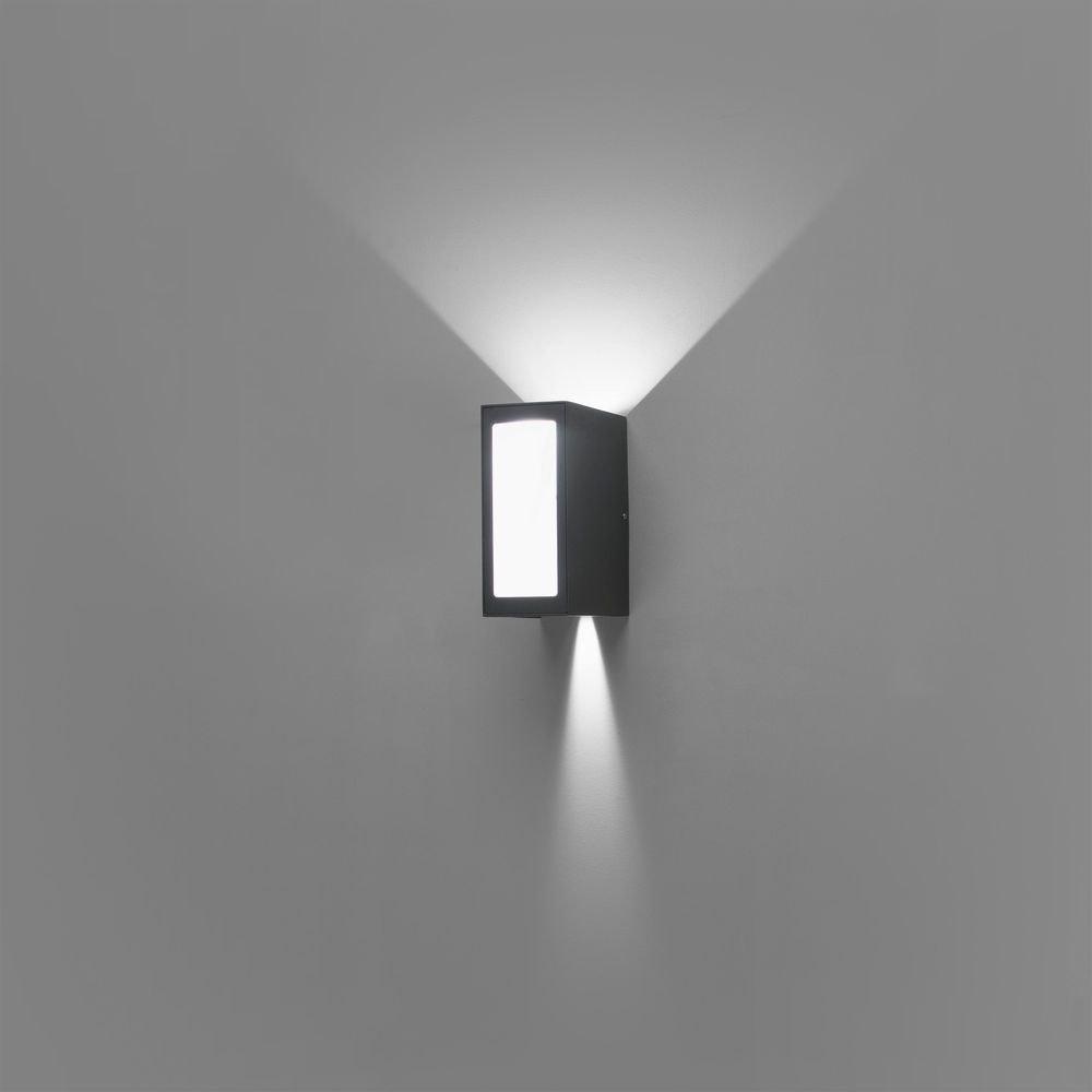 LED Außenwandleuchte LOG 3000K IP54 Dunkelgrau