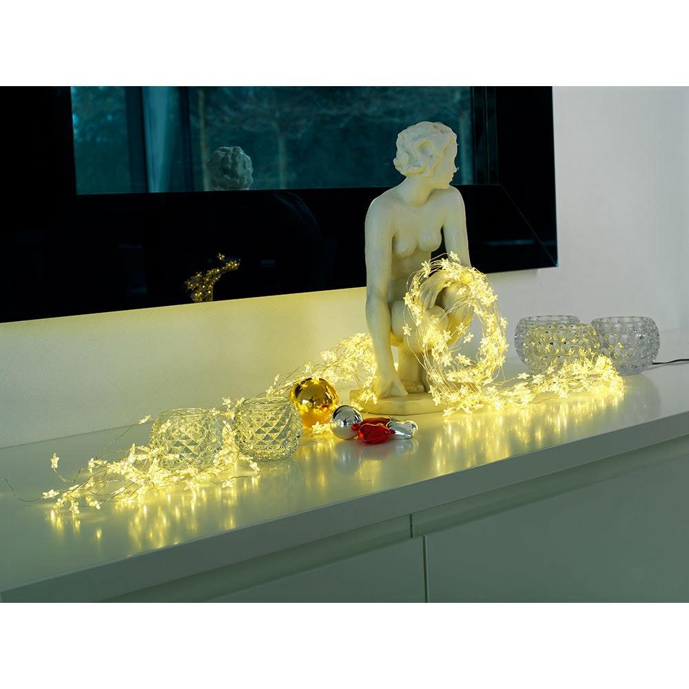 LED Sternenlametta 26 Stränge mit 27 Dioden 702 Warmweiße Dioden 3