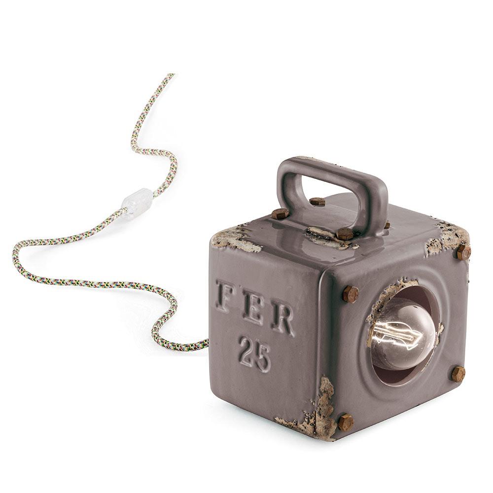 Ferroluce Industrial Retro-Tischleuchte mit Schalter thumbnail 5