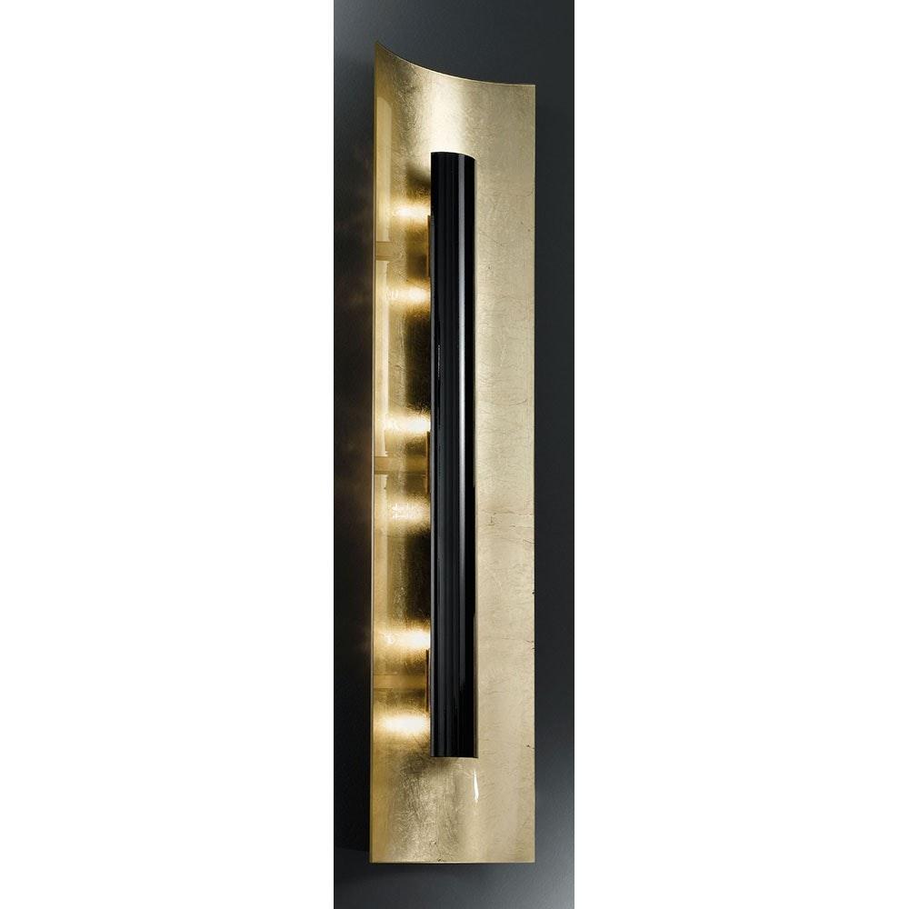 Aura Gold Wand- & Deckenleuchte 4-flammig Schwarz 100cm