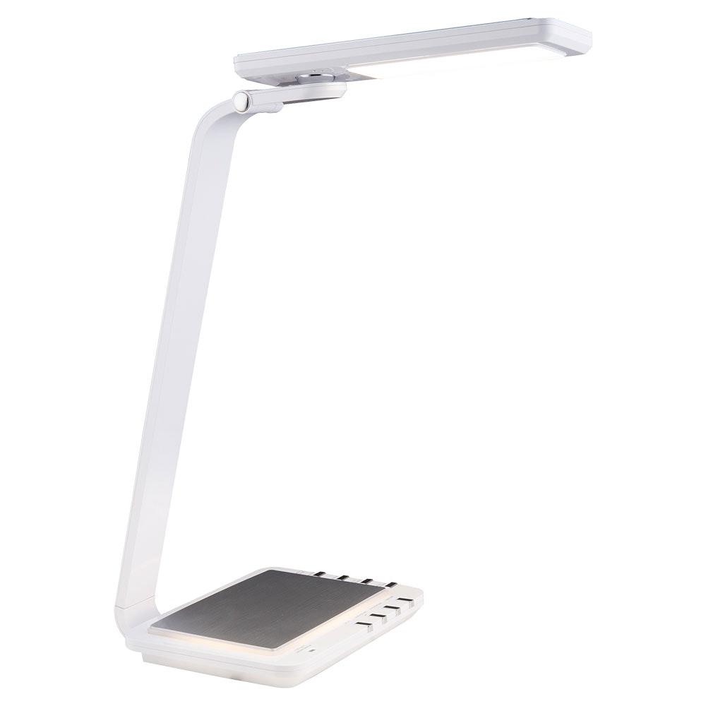 LED Tischleuchte Hekla Nachtlicht USB Charger Weiß 1