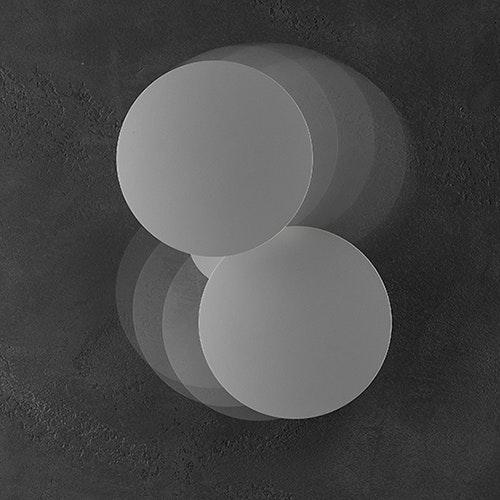Studio Italia Design Puzzle Round Outdoor Double LED Wandlampe 1