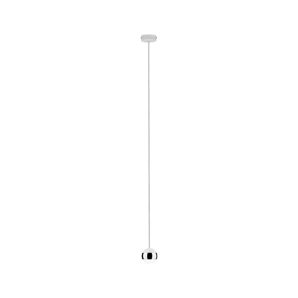 Capsule Pendellleuchte LED 1x6W Weiß Chrom  2