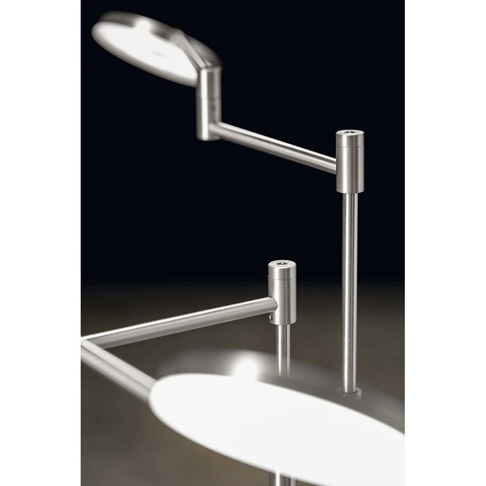 Holtkötter LED-Leseleuchte PLANO TWIN Alu-Matt Tastdimmerwarmweiss 2