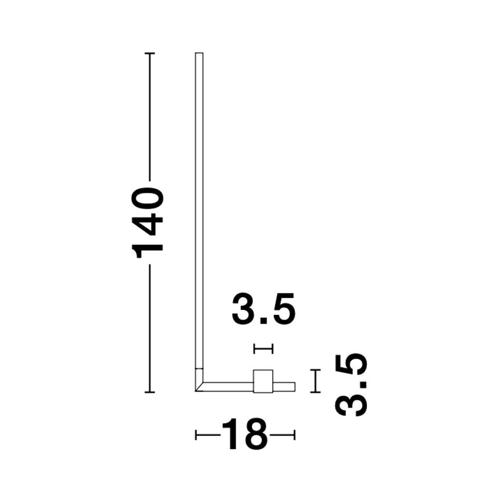 Nova Luce Raccio LED-Stehlampe indirekt drehbar Schwarz thumbnail 5