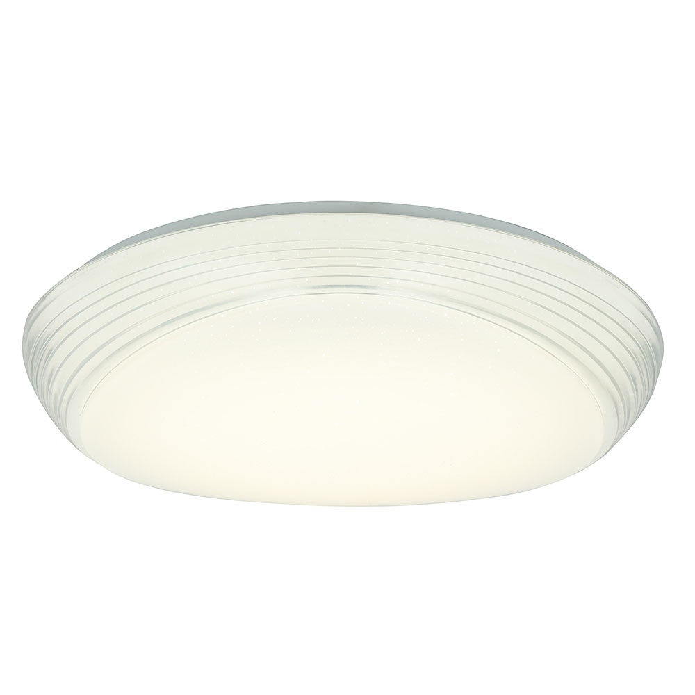 LED Deckenleuchte Lucas Sparkle Dekor CCT 3000-6000K Weiß, Opal 2
