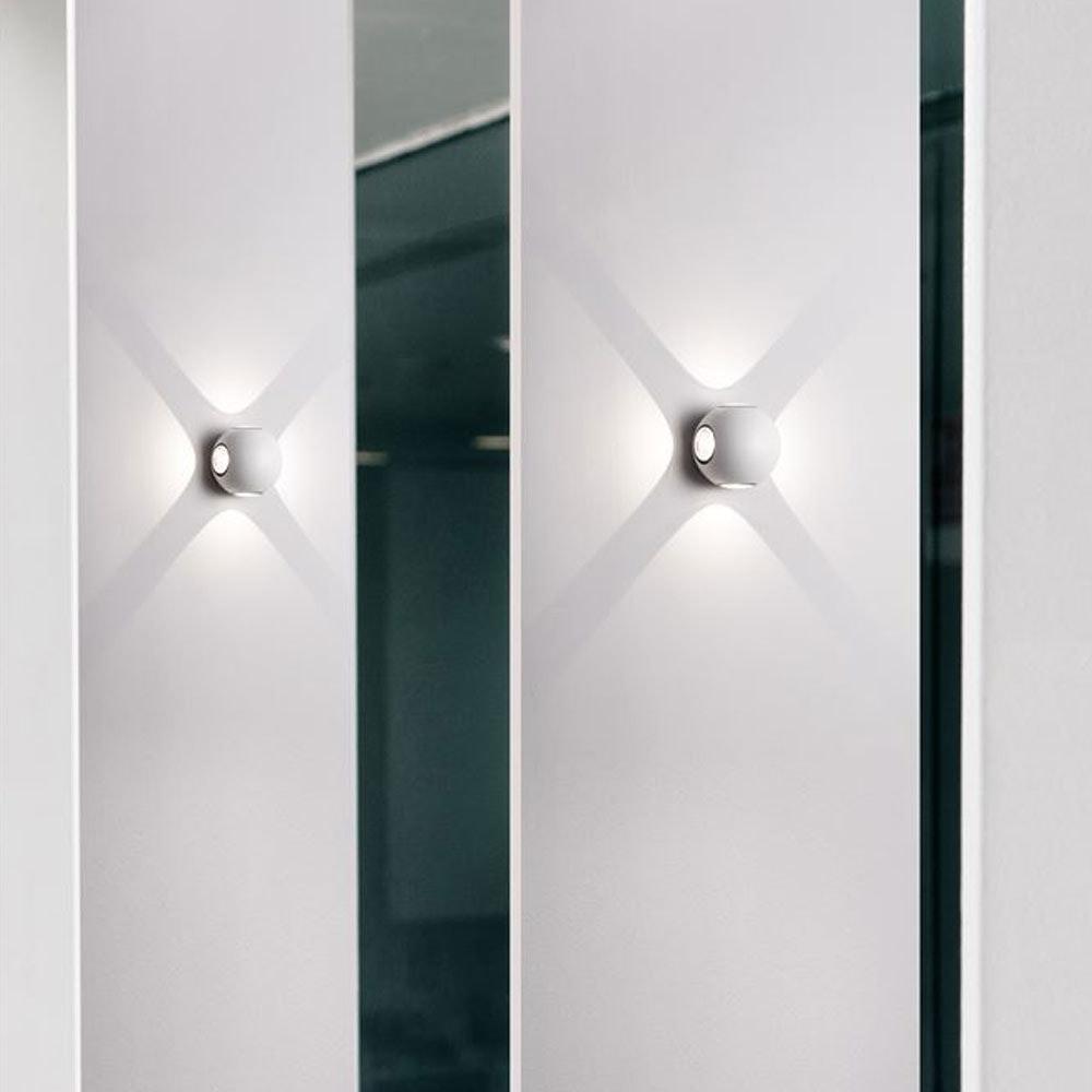 Nova Luce Zari Mini Wandleuchte 5cm Lichtstrahlen IP54 thumbnail 4