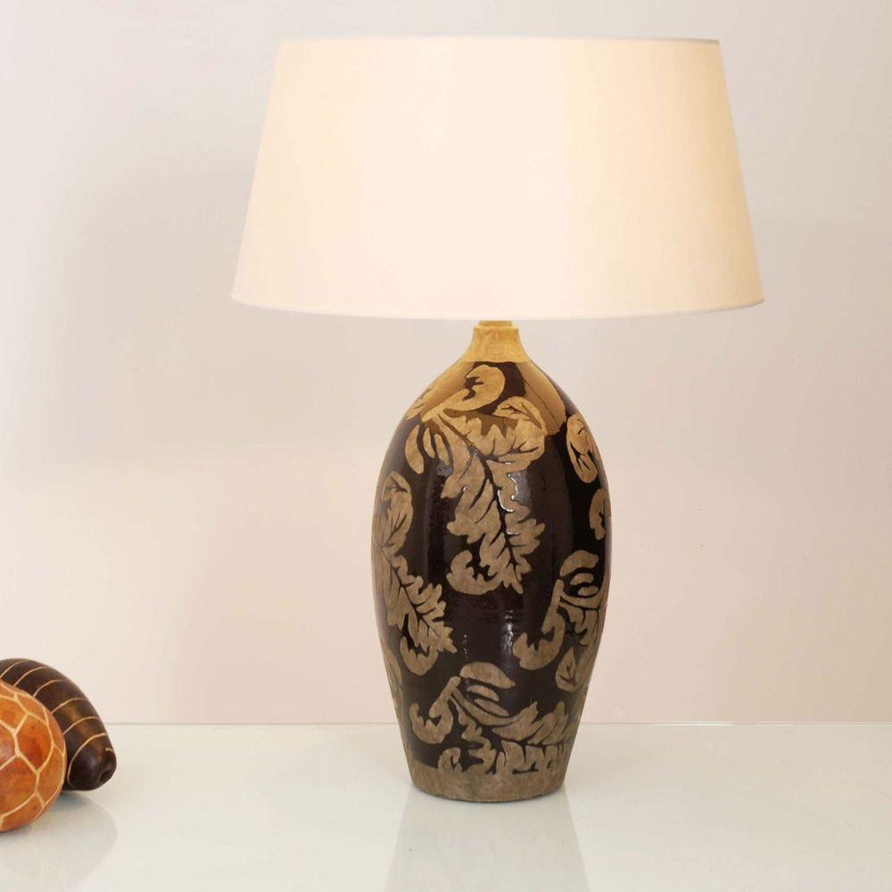 Tischleuchte Toulouse Keramik Glasiert Schwarz-Schlamm 1