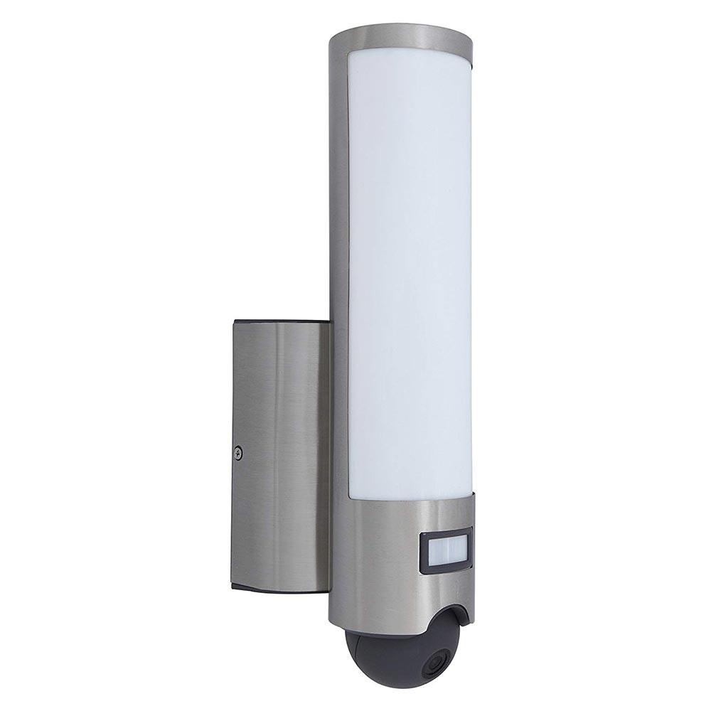 LED Kameraleuchte Elara mit Bewegungsmelder IP44 Edelstahl 2