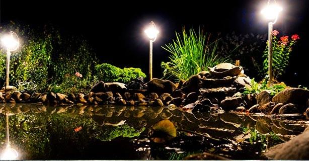 Teich-Beleuchtung