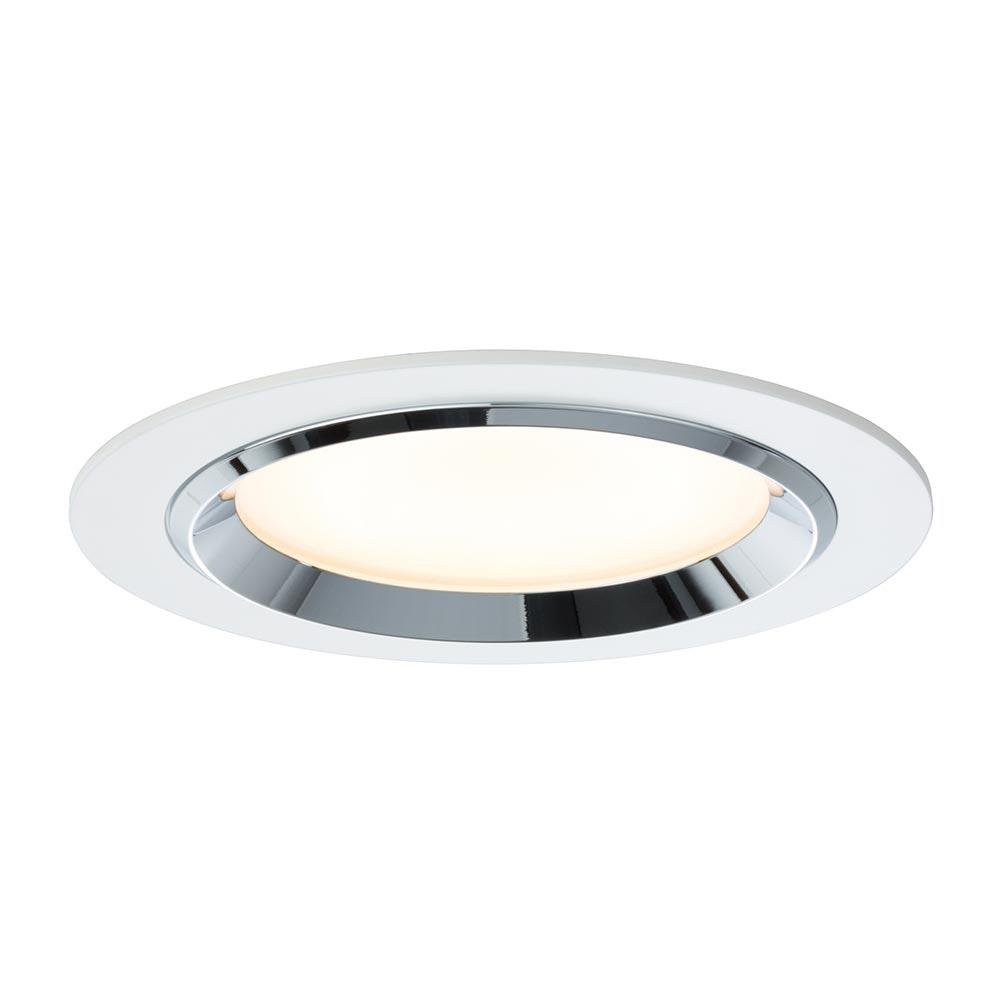 Premium EBL Set Dot rund LED 3x8W 36VA Weiß Chrom Alu 1