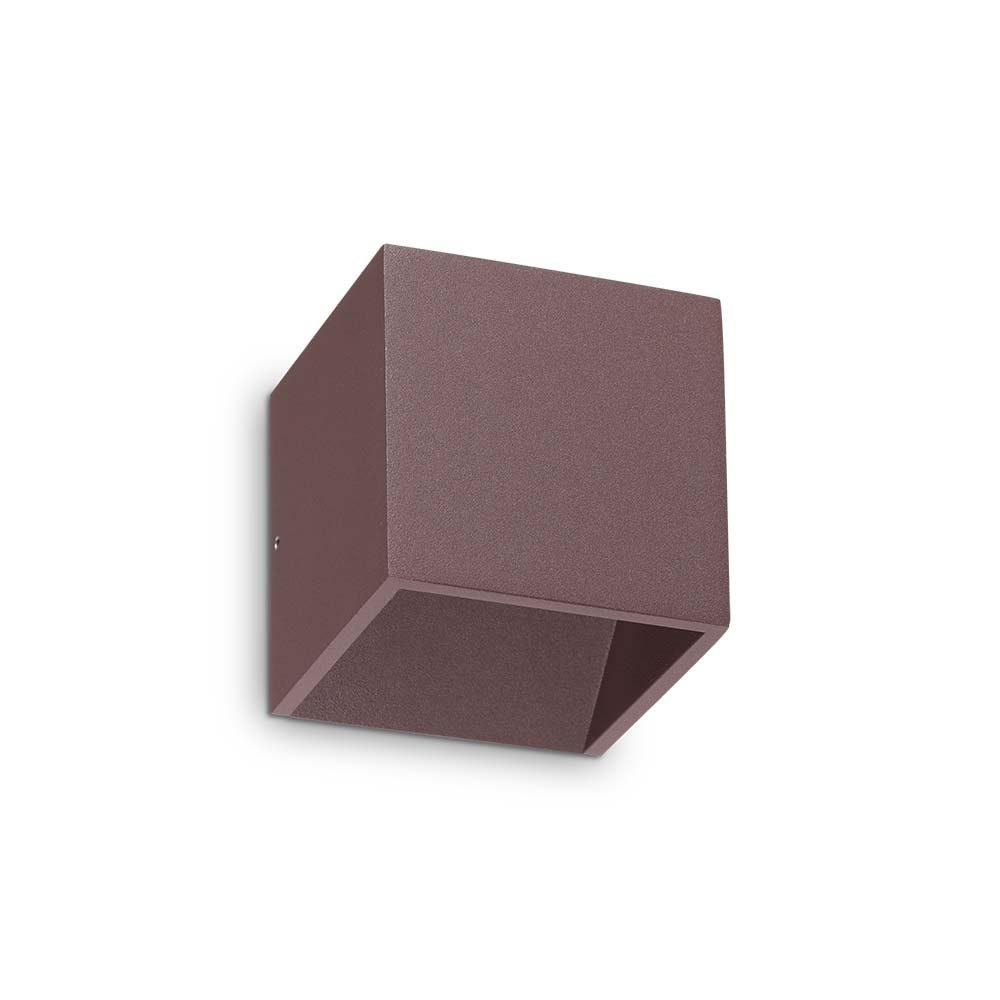 Ideal Lux LED Wandleuchte Rubik IP44 Coffee